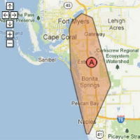 ft myers naples bonita springs estero service map small
